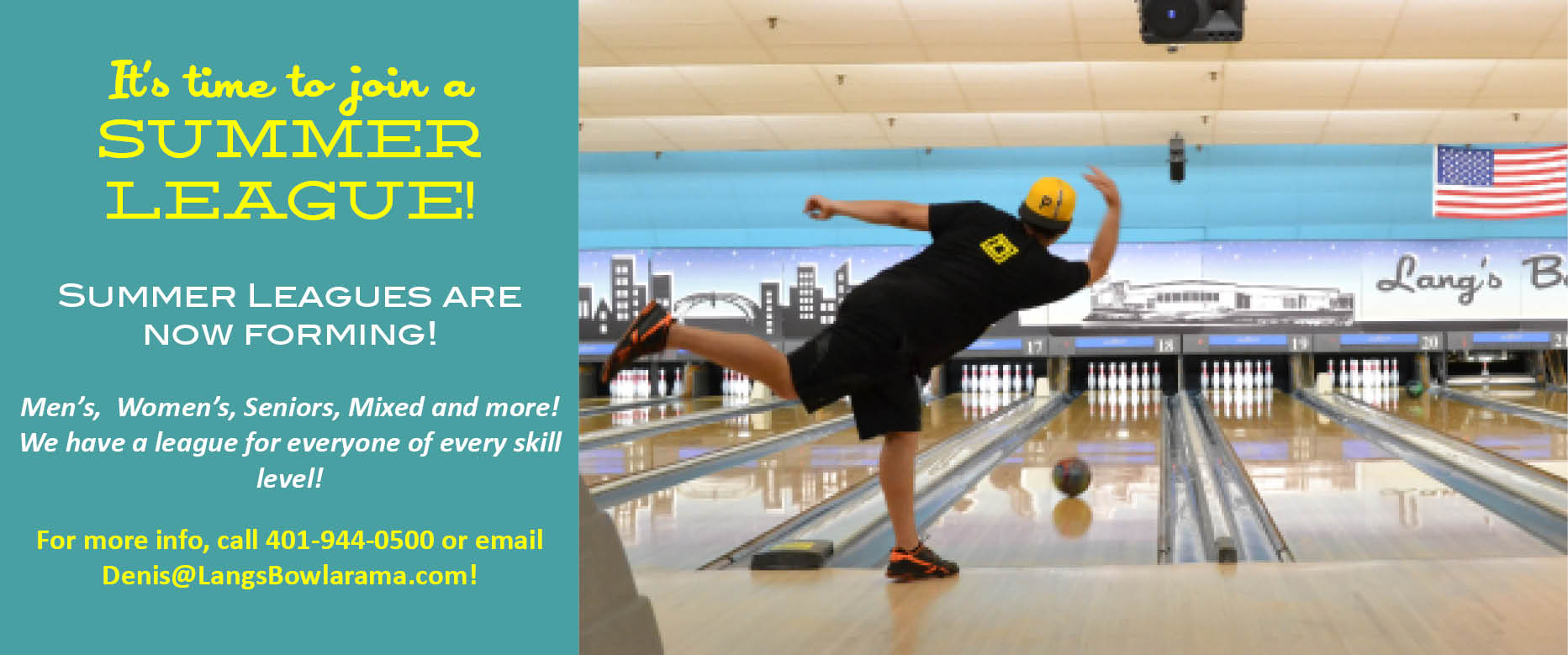 RI Bowling Leagues, Summer bowling league